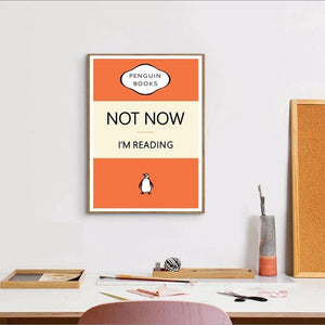 Funny Penguin Reading Quote Art Picture from Gallery Wallrus | Eclectic Wall Art & Decor with Worldwide Shipping