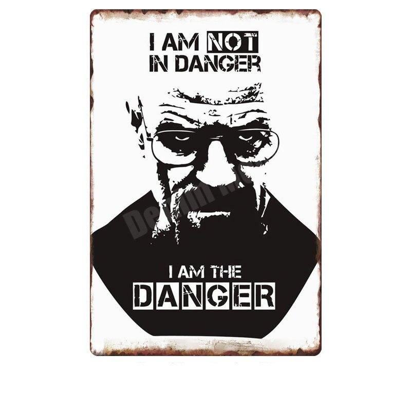 Vintage Cool Breaking Bad TV Show Metal Wall Art Signs from Gallery Wallrus | Eclectic Wall Art & Decor with Worldwide Shipping