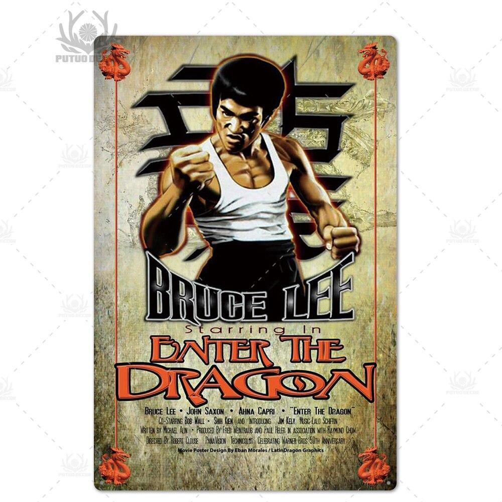 Bruce Lee Mix & Match Metal Wall Art Signs from Gallery Wallrus | Eclectic Wall Art & Decor with Worldwide Shipping