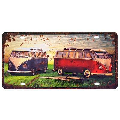 Vintage VW Camper and Car Metal Wall Display Signs from Gallery Wallrus | Eclectic Wall Art & Decor with Worldwide Shipping
