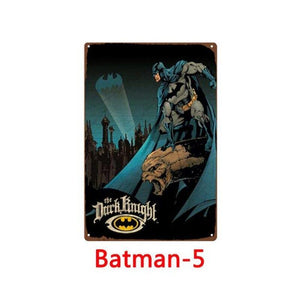Batman Wall Art Metal Signs (Mix & Match) from Gallery Wallrus | Eclectic Wall Art & Decor with Worldwide Shipping