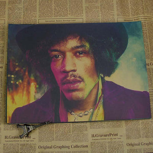 Jimmy Hendrix Vintage Newspapaper Gallery Wall Art Prints from Gallery Wallrus | Eclectic Wall Art & Decor with Worldwide Shipping