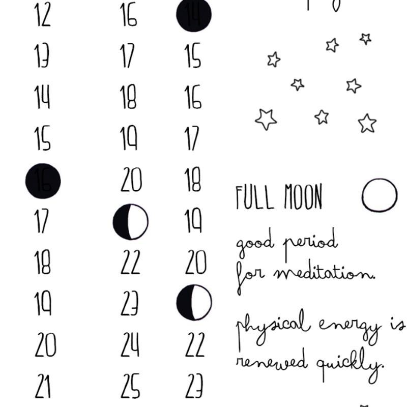 Lunar Phases 2020 Calendar Art Print from Gallery Wallrus | Eclectic Wall Art & Decor with Worldwide Shipping