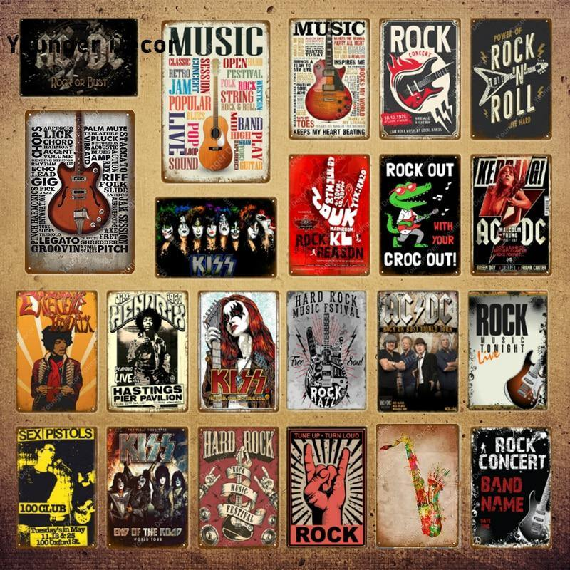 Rock Music Gallery Wall Art Metal Signs Mix & Match from Gallery Wallrus | Eclectic Wall Art & Decor with Worldwide Shipping
