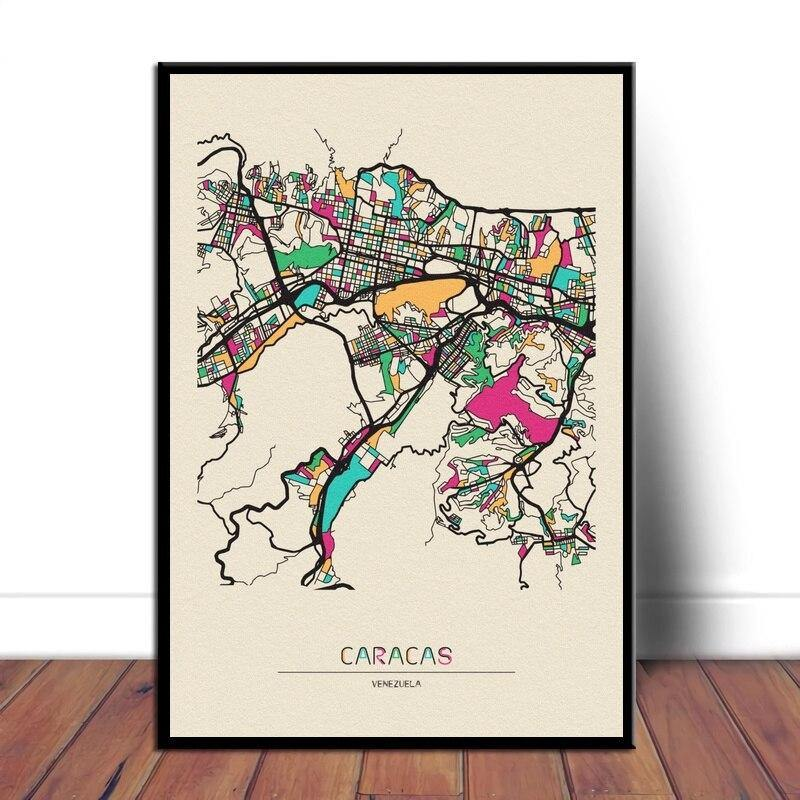 Colorful City Map Wall Art Prints: Cape Town, Casablanca + More from Gallery Wallrus | Eclectic Wall Art & Decor with Worldwide Shipping