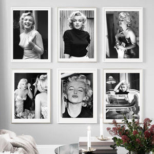 Vintage Superstar Marilyn Monroe Art Portraits from Gallery Wallrus | Eclectic Wall Art & Decor with Worldwide Shipping