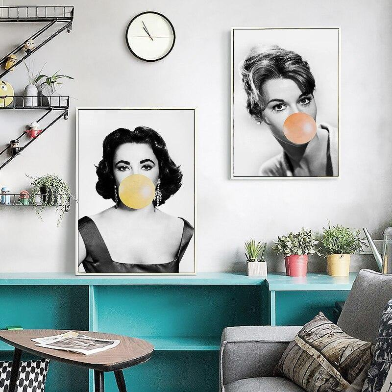 Cool Vintage Ladies Bubble Blowing Art Prints from Gallery Wallrus | Eclectic Wall Art & Decor with Worldwide Shipping