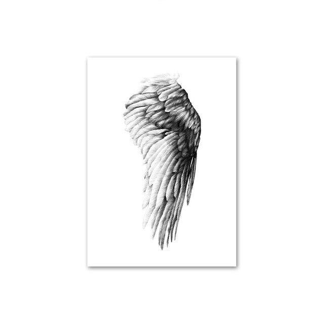 LOVE Feather and Bird Black & White Minimalist Gallery Wall Art Prints from Gallery Wallrus | Eclectic Wall Art & Decor with Worldwide Shipping