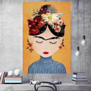 Sweet Ethnic Cartoon Paintings from Gallery Wallrus | Eclectic Wall Art & Decor with Worldwide Shipping