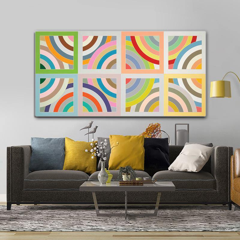 Multicolor Retro Pattern Art Print from Gallery Wallrus | Eclectic Wall Art & Decor with Worldwide Shipping