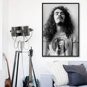 1972 Classic Musician Carlos Santana Art Portrait from Gallery Wallrus | Eclectic Wall Art & Decor with Worldwide Shipping