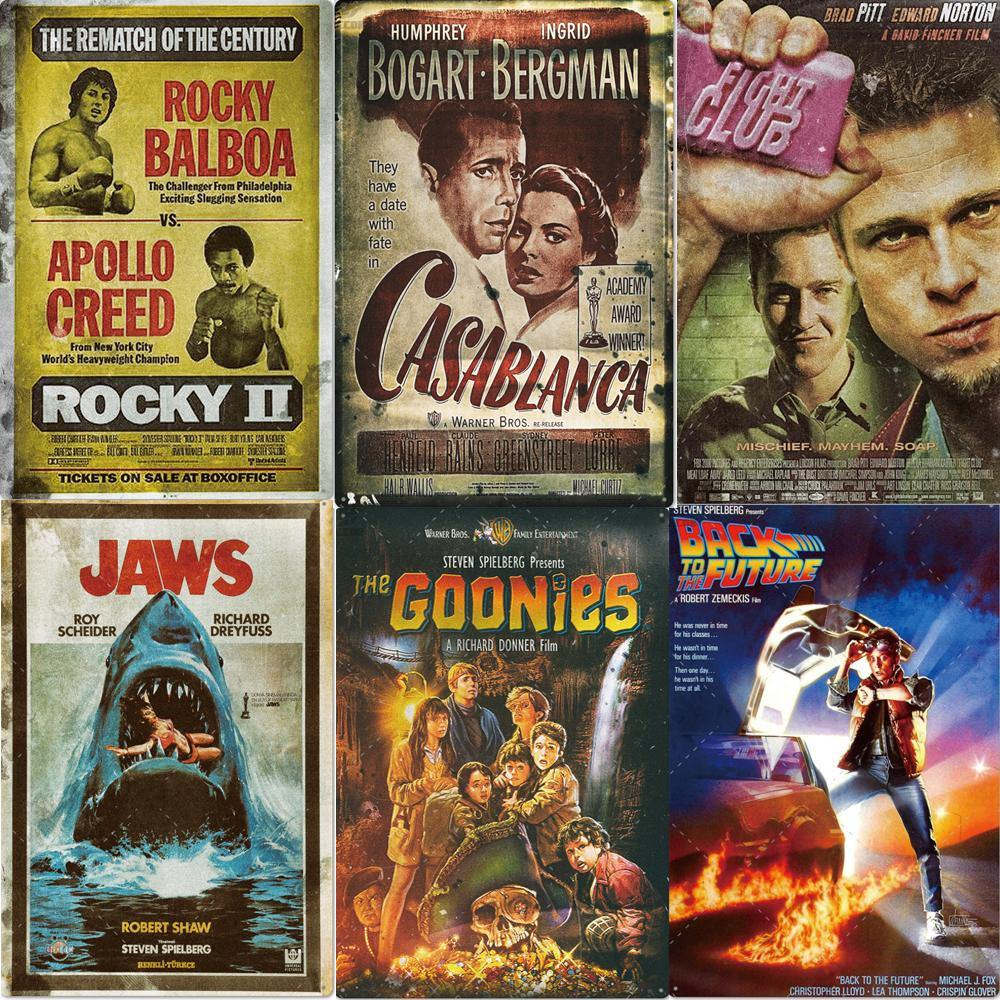 Classic Cult Movie Metal Wall Art Gallery Signs Mix & Match from Gallery Wallrus | Eclectic Wall Art & Decor with Worldwide Shipping