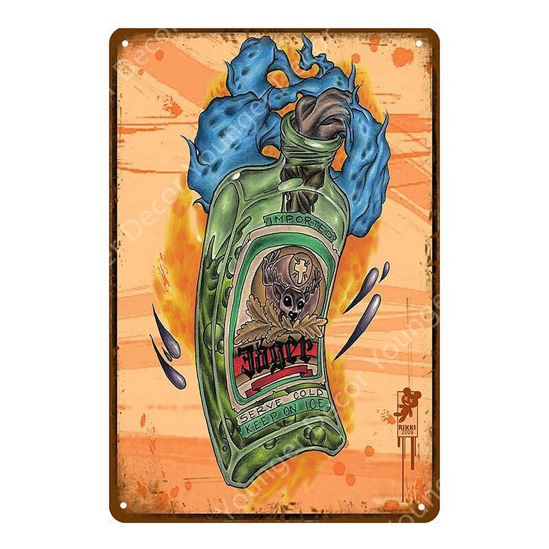 Jagermeister / Jager Bomb VIntage Wall Signs Mix & Match from Gallery Wallrus | Eclectic Wall Art & Decor with Worldwide Shipping
