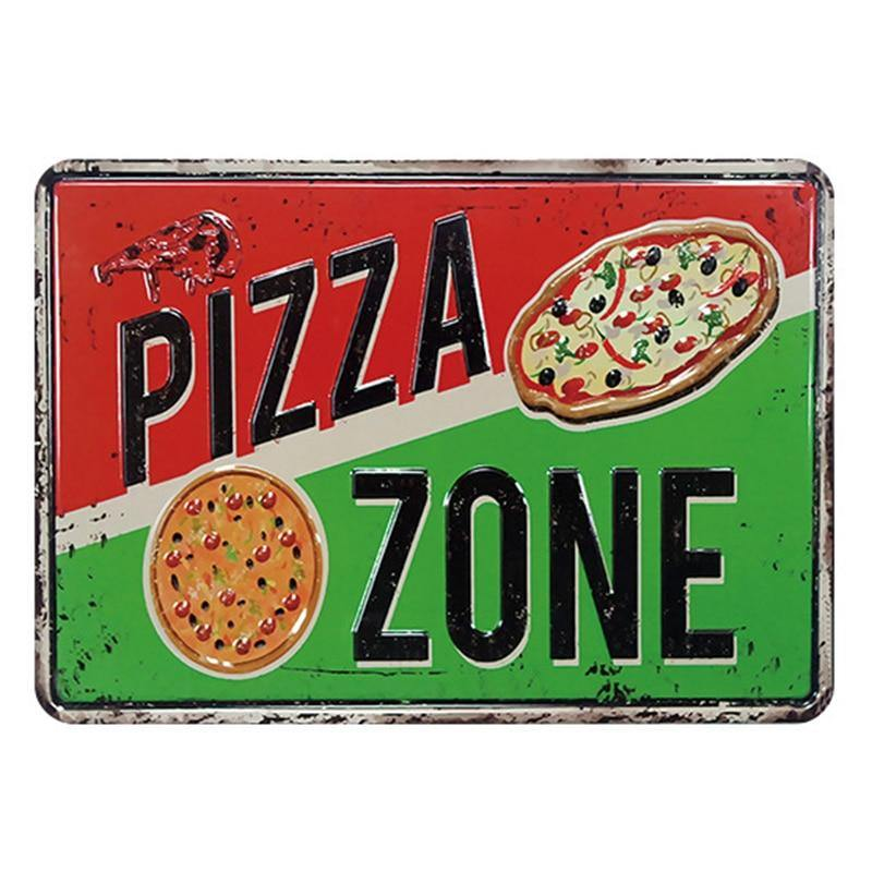 Vintage Pizza Metal Wall Signs Mix & Match from Gallery Wallrus | Eclectic Wall Art & Decor with Worldwide Shipping