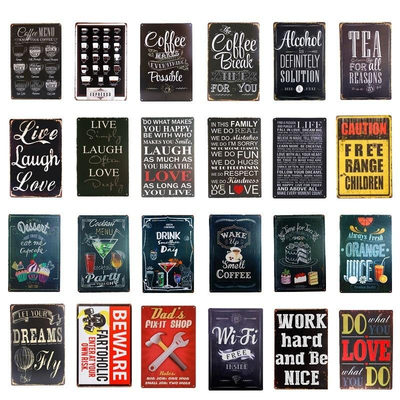 Popular Designs Metal Wall Signs Mix & Match from Gallery Wallrus | Eclectic Wall Art & Decor with Worldwide Shipping