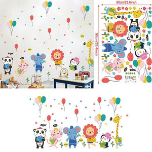 Happy Party Jungle Animals Wall Stickers from Gallery Wallrus | Eclectic Wall Art & Decor with Worldwide Shipping