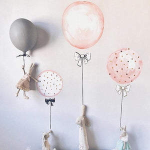 Pastel Pink Balloon Flamingo Wall Stickers from Gallery Wallrus | Eclectic Wall Art & Decor with Worldwide Shipping