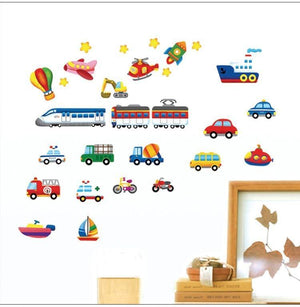 Kids Room Cars Tractor Truck Wall Stickers from Gallery Wallrus | Eclectic Wall Art & Decor with Worldwide Shipping