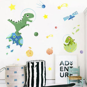Dinosaur Air Space Kids Room Wall Stickers from Gallery Wallrus | Eclectic Wall Art & Decor with Worldwide Shipping