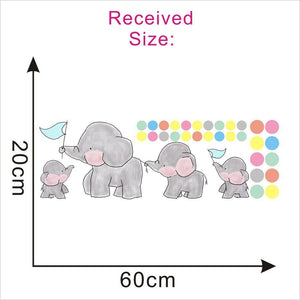 Cute Family Elephant Kids Room Wall Stickers from Gallery Wallrus | Eclectic Wall Art & Decor with Worldwide Shipping