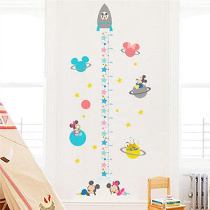Mickey Minnie Mouse Friends Growth Chart Wall Stickers from Gallery Wallrus | Eclectic Wall Art & Decor with Worldwide Shipping