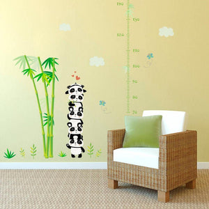 Measure Height Bamboo Panda Kindergarten Wall Stickers from Gallery Wallrus | Eclectic Wall Art & Decor with Worldwide Shipping