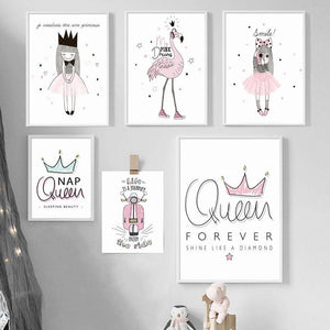 Pink Girl Princess and Queen Art Pictures from Gallery Wallrus | Eclectic Wall Art & Decor with Worldwide Shipping
