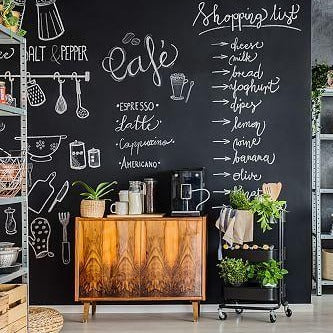 Chalk board Adhesive Wallpaper Sticker from Gallery Wallrus | Eclectic Wall Art & Decor with Worldwide Shipping