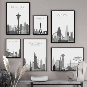 City Map of Favorite Countries Wall Art Pictures from Gallery Wallrus | Eclectic Wall Art & Decor with Worldwide Shipping