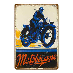 Vintage Vespa Scooter / Motorcycle Gallery Wall Art Metal Signs Mix & Match from Gallery Wallrus | Eclectic Wall Art & Decor with Worldwide Shipping