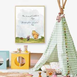 Winnie the Pooh Quotes Gallery Wall Art Prints from Gallery Wallrus | Eclectic Wall Art & Decor with Worldwide Shipping