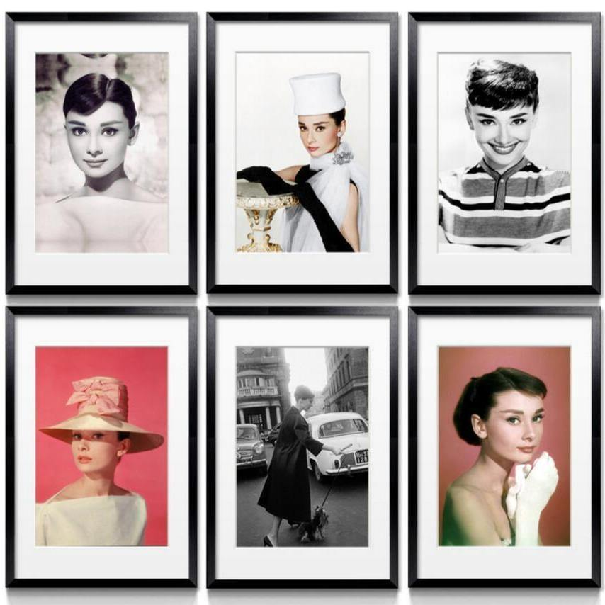 The Classic Superstar Audrey Hepburn Portrait Collection from Gallery Wallrus | Eclectic Wall Art & Decor with Worldwide Shipping