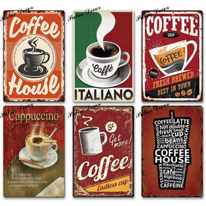 Vintage Coffee Metal Wall Decor Signs from Gallery Wallrus | Eclectic Wall Art & Decor with Worldwide Shipping