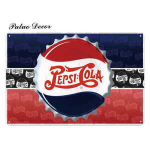 Vintage Pepsi Wall Signs from Gallery Wallrus | Eclectic Wall Art & Decor with Worldwide Shipping
