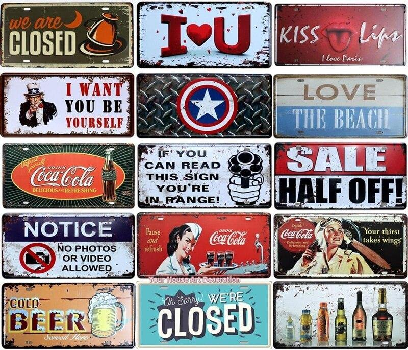Vintage Brands Mix & Match Metal Wall Art Signs from Gallery Wallrus | Eclectic Wall Art & Decor with Worldwide Shipping