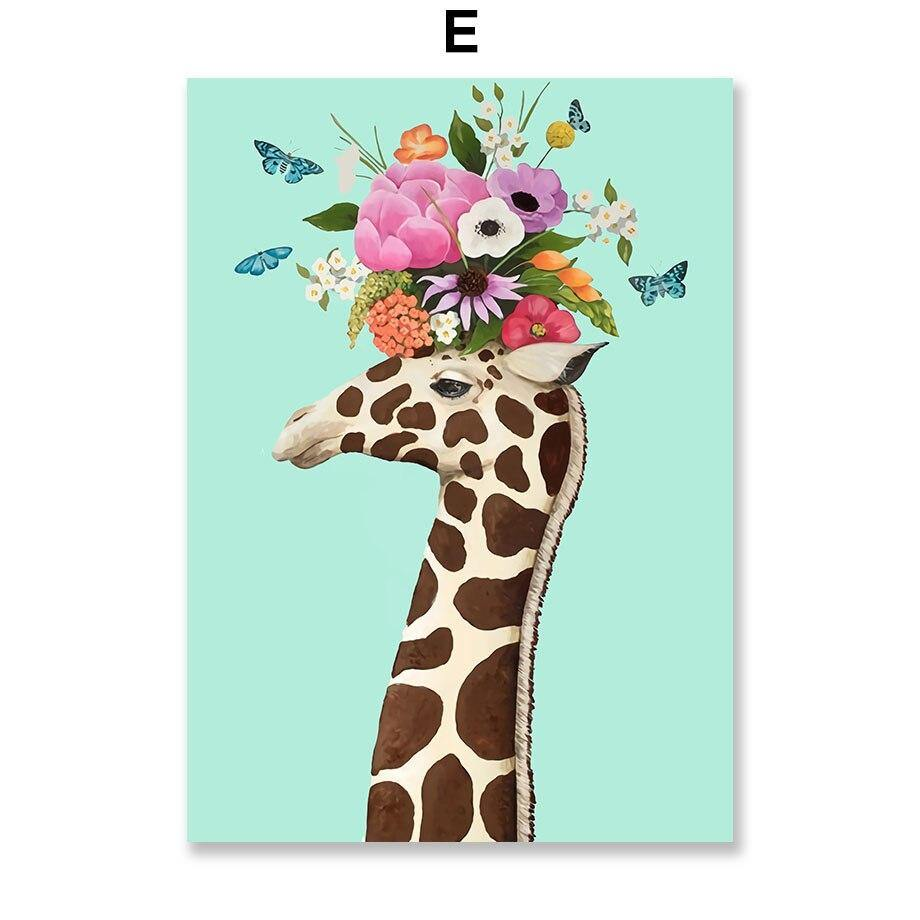 Kids Abstract Zoo Flower Animals Art Pictures from Gallery Wallrus | Eclectic Wall Art & Decor with Worldwide Shipping