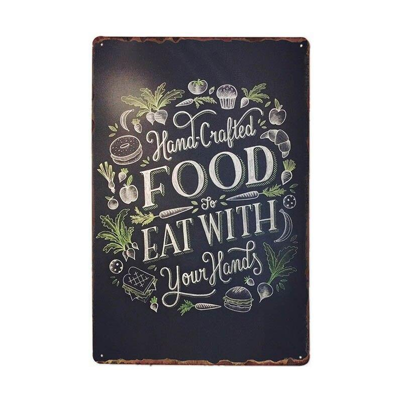 American Diner Retro Vintage Food Menu Wall Art Metal Signs from Gallery Wallrus | Eclectic Wall Art & Decor with Worldwide Shipping