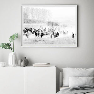 Country and Western Minimalist Black & White Art Print Set from Gallery Wallrus | Eclectic Wall Art & Decor with Worldwide Shipping