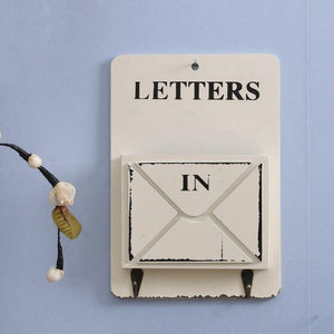 Shabby Chic Wall Mounted Letter Holder from Gallery Wallrus | Eclectic Wall Art & Decor with Worldwide Shipping