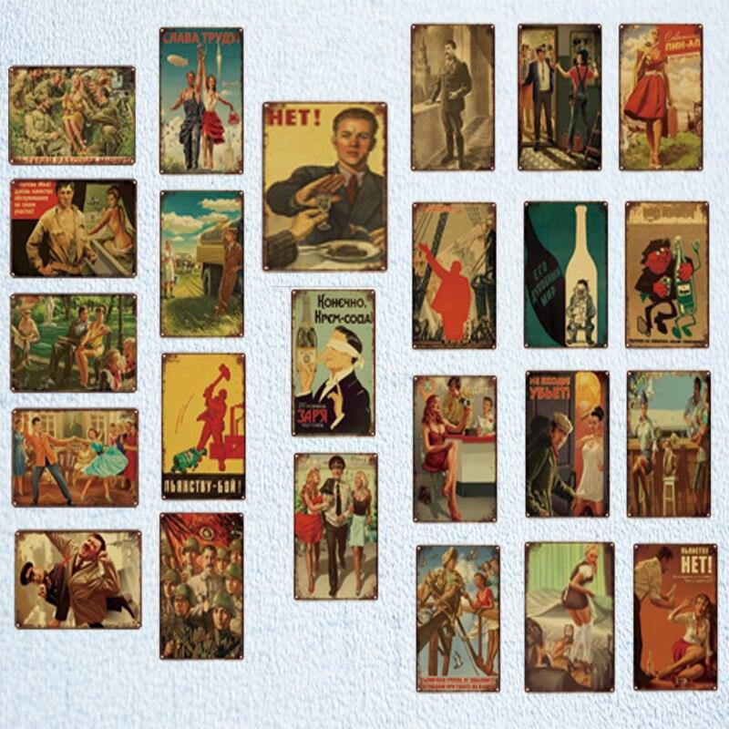 Vintage Old Fashioned 1920's, 1930's, 1940's Era Gallery Wall Metal Art Signs from Gallery Wallrus | Eclectic Wall Art & Decor with Worldwide Shipping