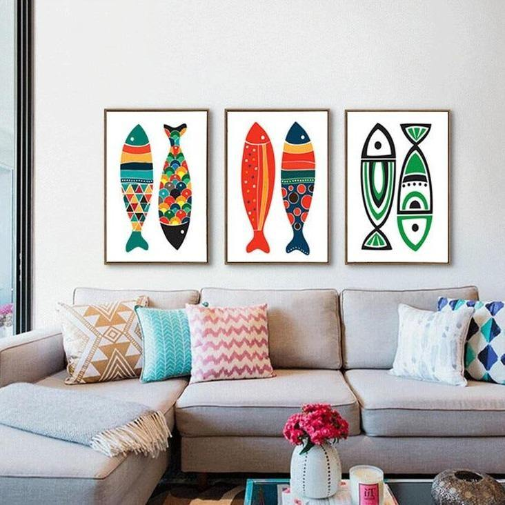 Colorful Bohemian Fishes Art Pictures from Gallery Wallrus | Eclectic Wall Art & Decor with Worldwide Shipping
