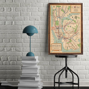 Vintage New York Subway Art Print from Gallery Wallrus | Eclectic Wall Art & Decor with Worldwide Shipping