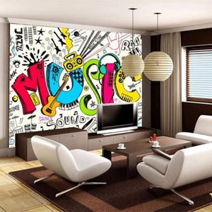Abstract Graffiti Large Music Art Wall Mural from Gallery Wallrus | Eclectic Wall Art & Decor with Worldwide Shipping