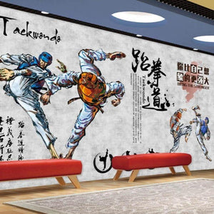 Taekwondo Martial Arts Sports Wall Mural from Gallery Wallrus | Eclectic Wall Art & Decor with Worldwide Shipping