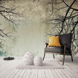 Nordic Vintage Style Tree Branches Wall Mural from Gallery Wallrus | Eclectic Wall Art & Decor with Worldwide Shipping