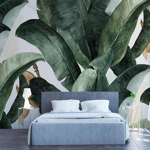 Retro Large Banana Leaves Wall Mural from Gallery Wallrus | Eclectic Wall Art & Decor with Worldwide Shipping
