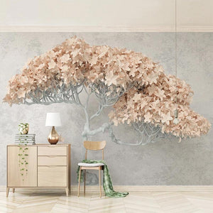 Modern Interior Flower Tree Wall Mural from Gallery Wallrus | Eclectic Wall Art & Decor with Worldwide Shipping