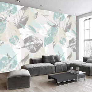 Colorful Pastel Leaves Non-Woven Waterproof Wall Mural from Gallery Wallrus | Eclectic Wall Art & Decor with Worldwide Shipping