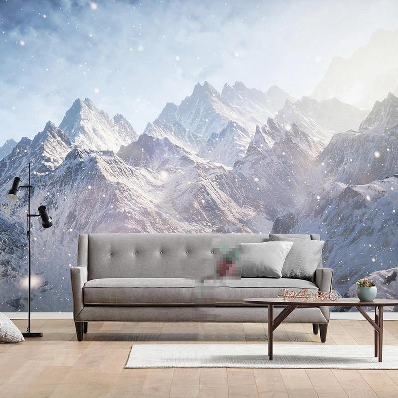 Ombre Snow Mountain Wall Mural from Gallery Wallrus | Eclectic Wall Art & Decor with Worldwide Shipping