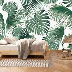 Tropical Palm Leaf Wall Mural from Gallery Wallrus | Eclectic Wall Art & Decor with Worldwide Shipping